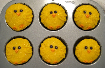 Easter Chick Cupcakes - Close-Up Group