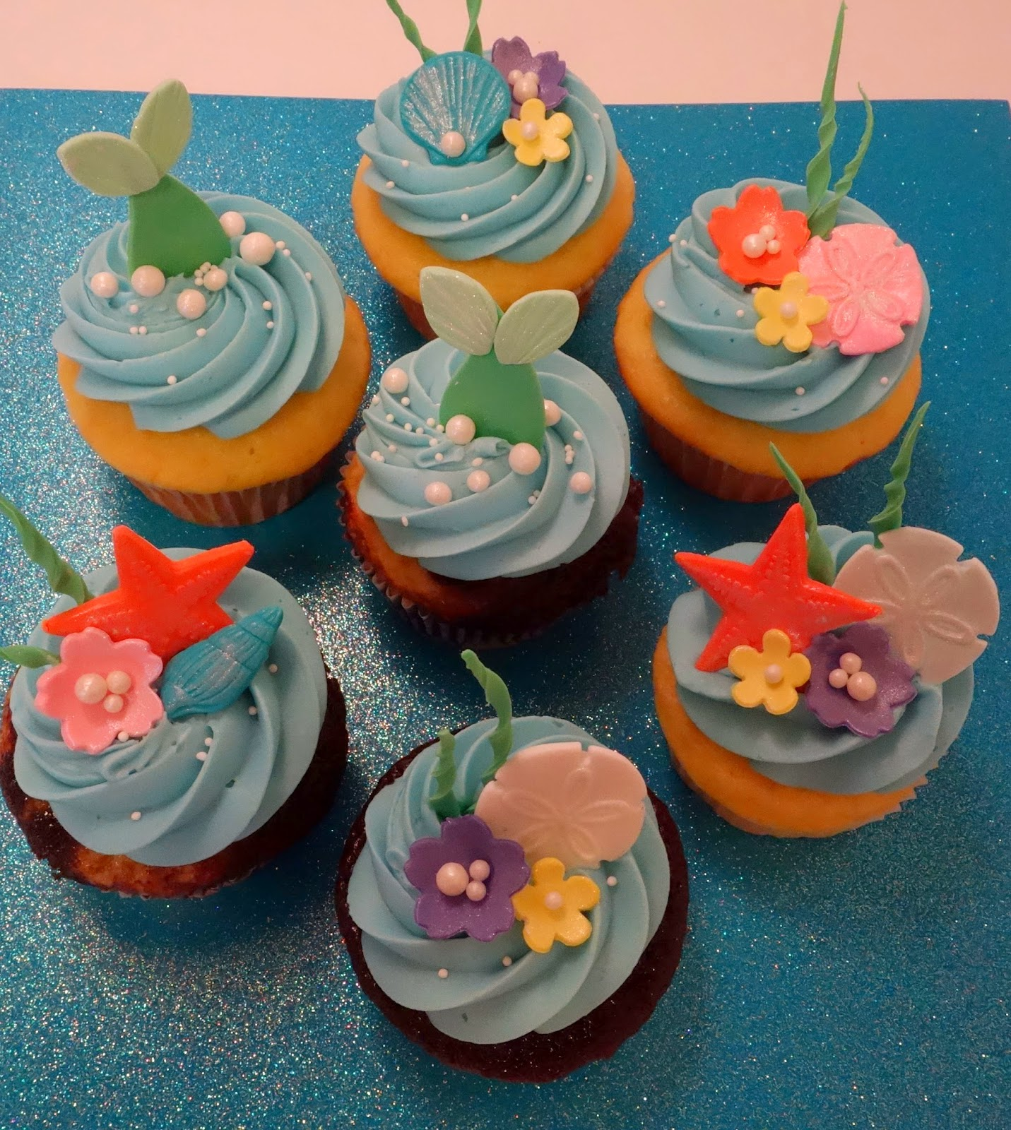 Candy Coated Little Mermaid Under The Sea Cupcakes