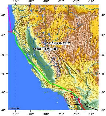 southern california earthquake 2012 june 30