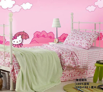 diseño dormitorio hello kitty