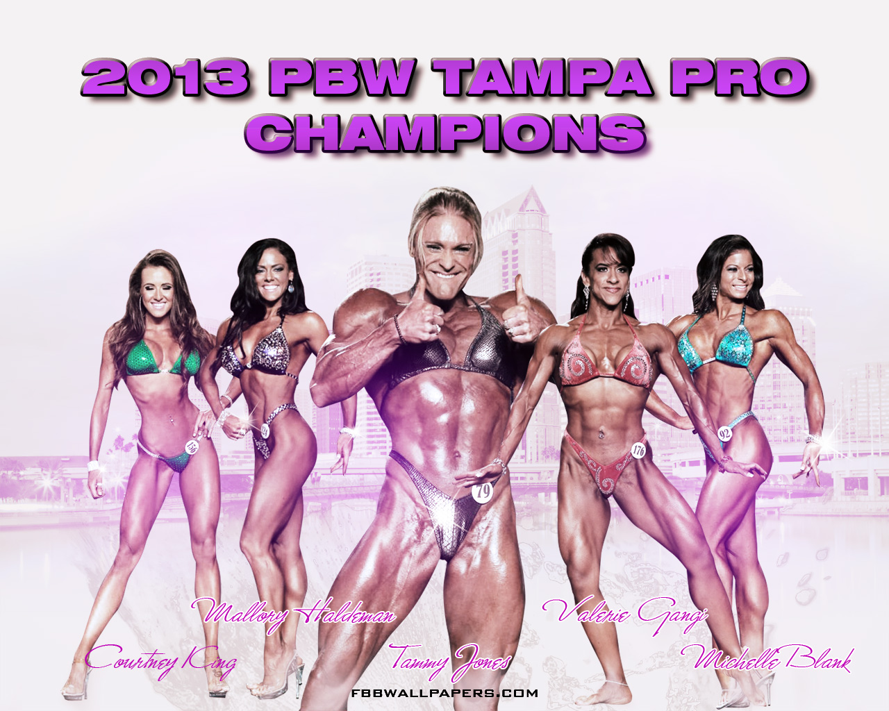 2013 PBW Tampa Pro Women Champions 1280 by 1024 Wallpaper
