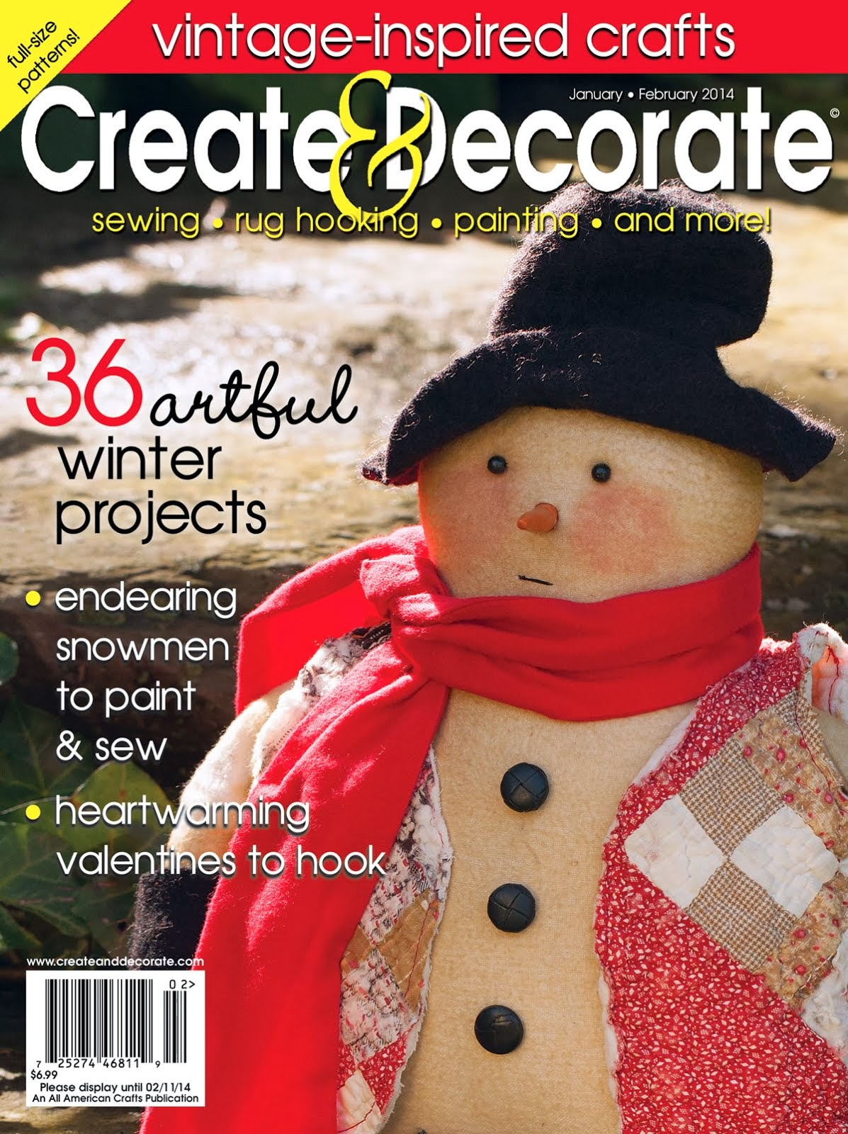 Featured In: Create and Decorate Magazine! January 2014 issue