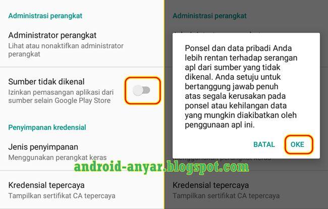 Kenapa tidak bisa pasang aplikasi game Android dan di cekal