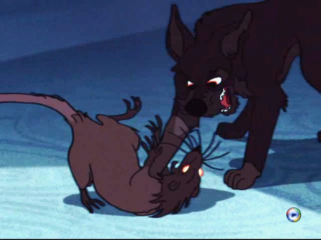 Killing the rat Lady and the Tramp 1955 animatedfilmreviews.blogspot.com