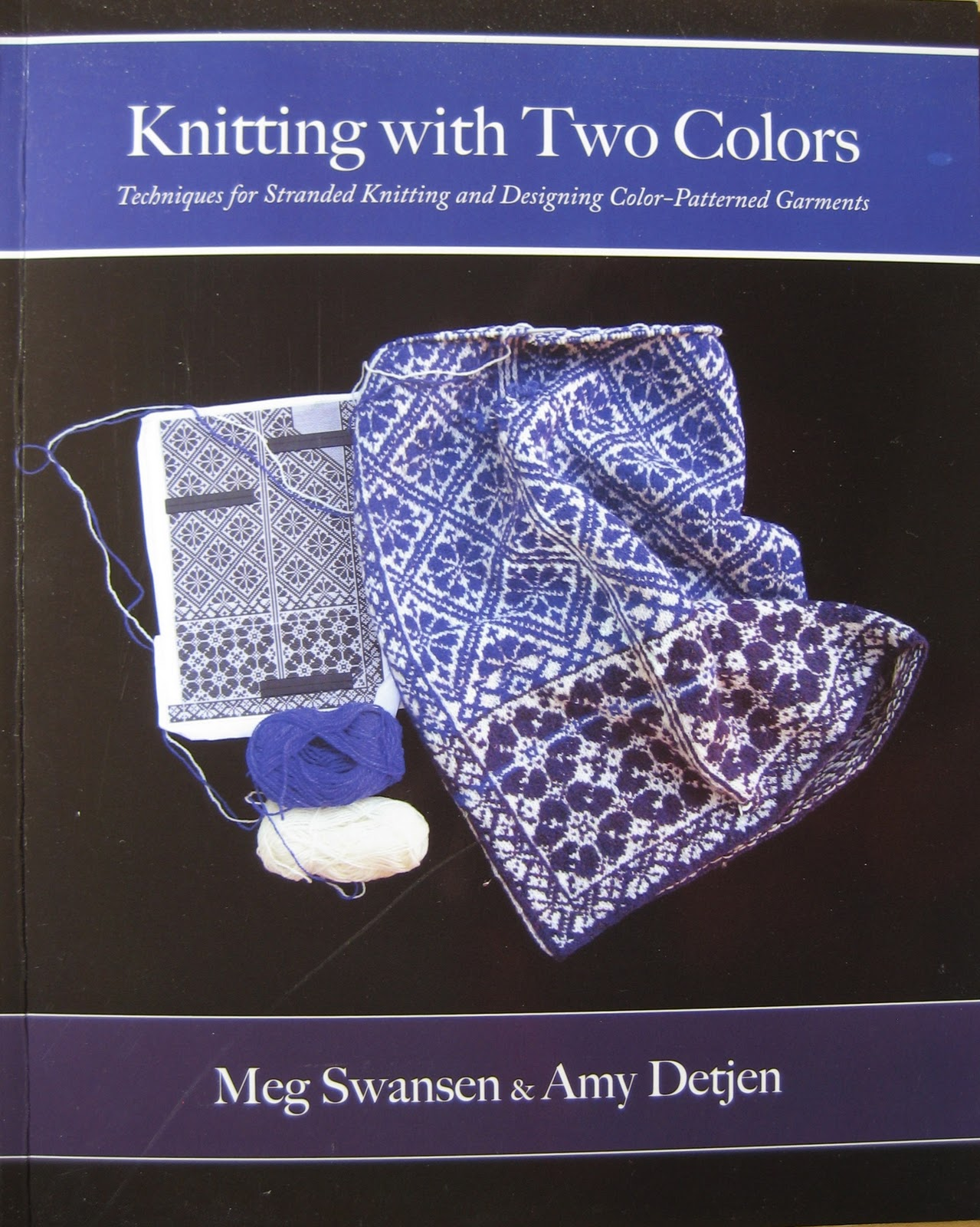 Knitting With Two Colors Book : Carolyn knits all my new color books