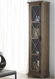 Vitrina 1 puerta decape, vitrina auxiliar blanca decape