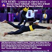 DTN NewsLONDON OLYMPICS 2012: Women's Beach VolleyballJuliana Silva of .