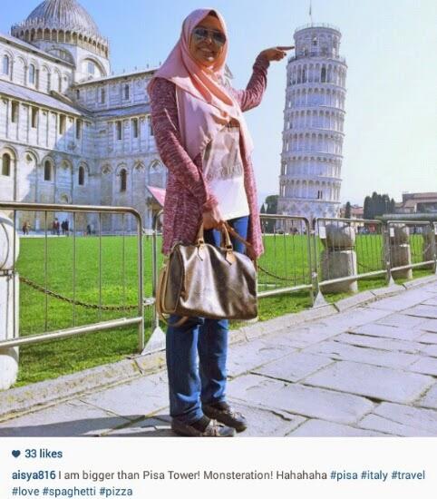 Pisa tower, blogger, siti aisya, blogger malaysia