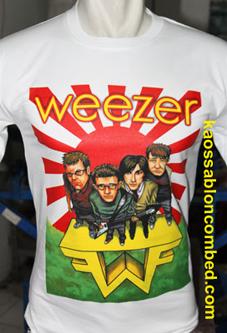 Kaos Weezer Polos Anak Tshirt Oblong