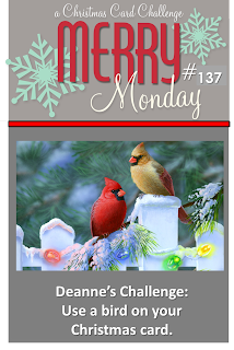 http://merrymondaychristmaschallenge.blogspot.de/2014/12/merry-monday-137-feathered-friends.html
