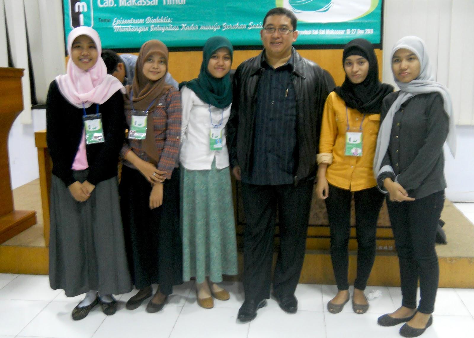 Kohati HMI Cab. Makassar Timur Bersama Fadly Zon (Sekjen Partai Gerindra)