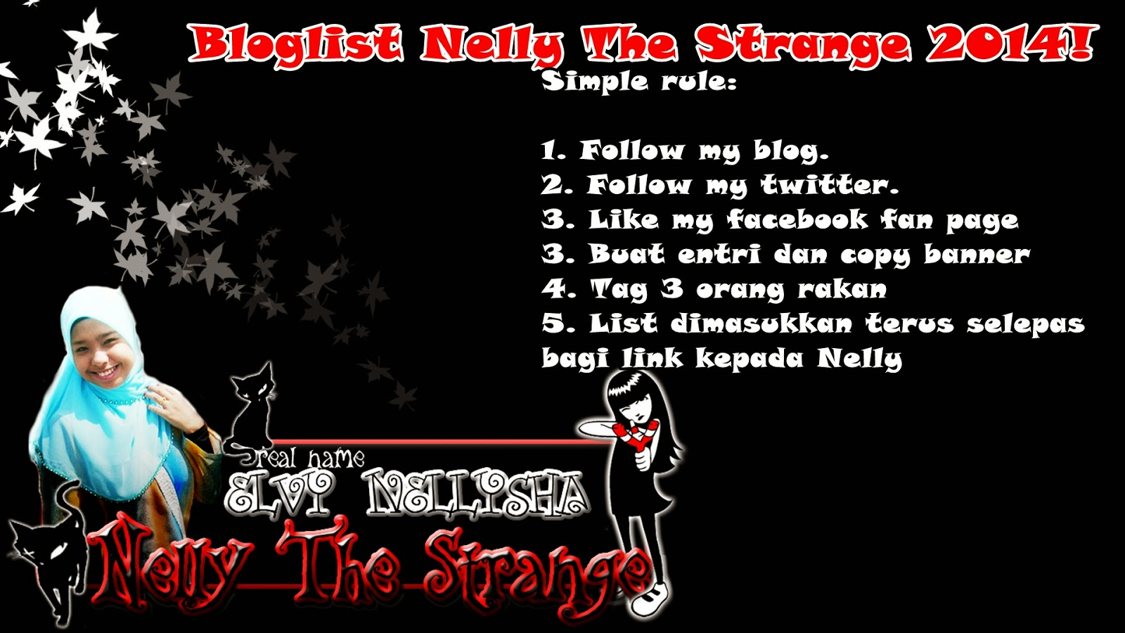 BLOGLIST NELLY THE STRANGE 2014 SIMPLE