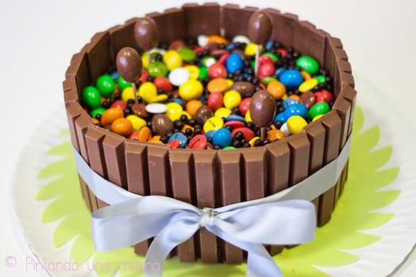 receta tarta de lacasitos blog infantil mama de noa