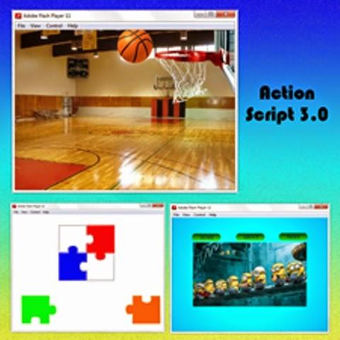 membuat game sederhana adalah karya murid yang belajar kursus Flash Action Script 3.0 pada tempat kursus website, seo, desain grafis favorit 2015 di jakarta