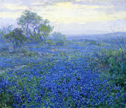 1918 A Cloudy Day, Bluebonnets near San Antonio, Texas oil on canvas 63.8 x .