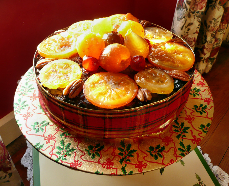 Cake With Fruit Topping : Normandy Life: Glace fruit topped Christmas cake.