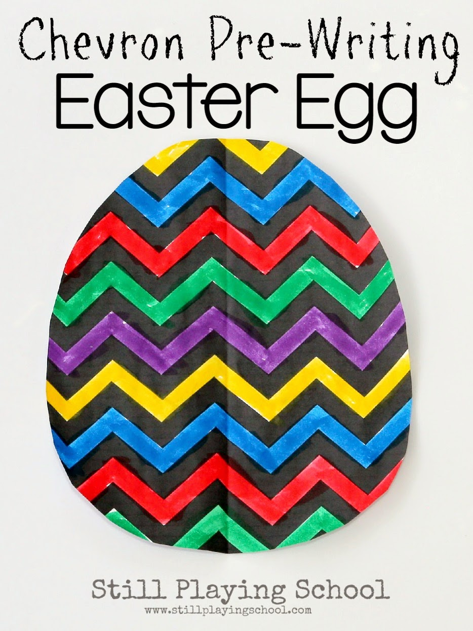 Chevron Pre-Writing Easter Egg Craft for Kids | Still Playing School