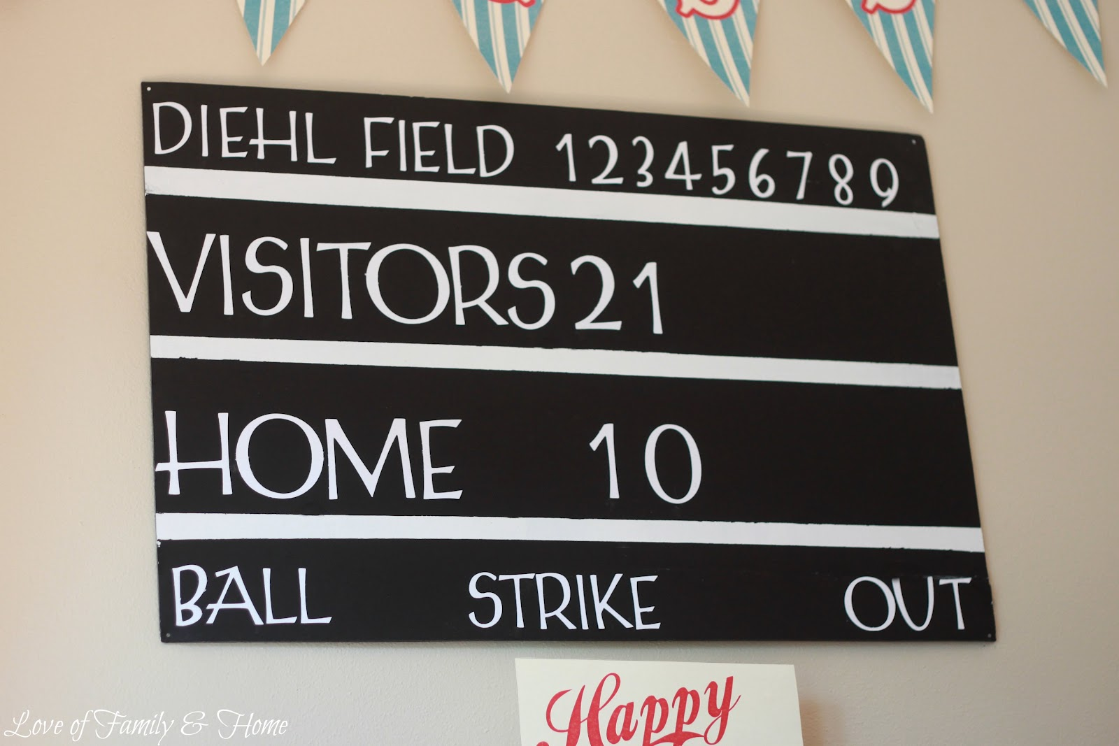 diy scoreboard tutorial baseball birthday love of. Black Bedroom Furniture Sets. Home Design Ideas