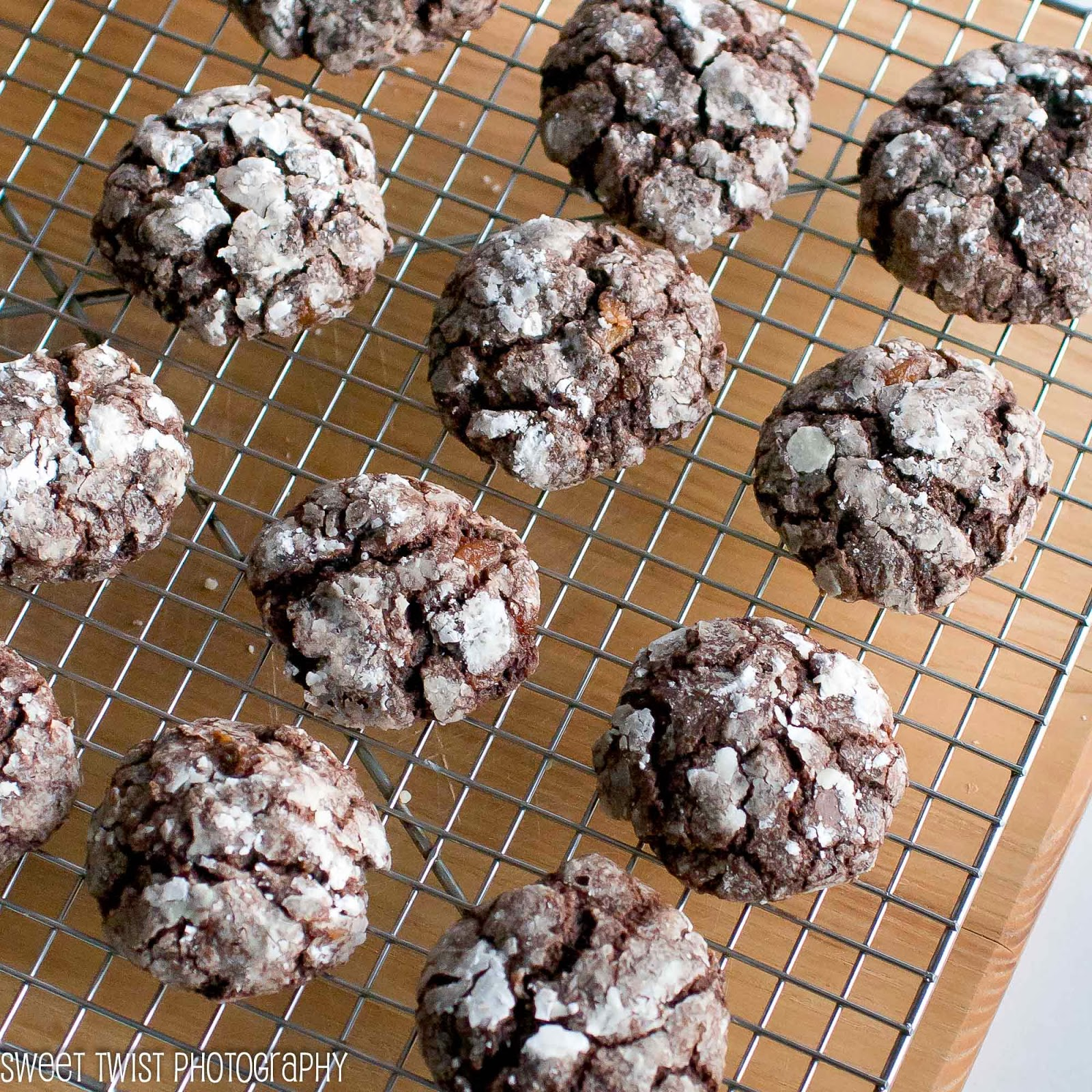 Chocolate Apricot Crinkles