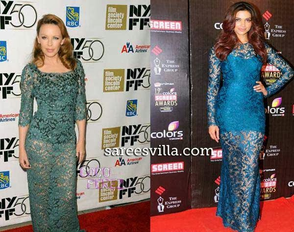 Kylie Minogue and Deepika Padukone in same dress