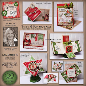 Vintage Christmas TWIST & POP Cards