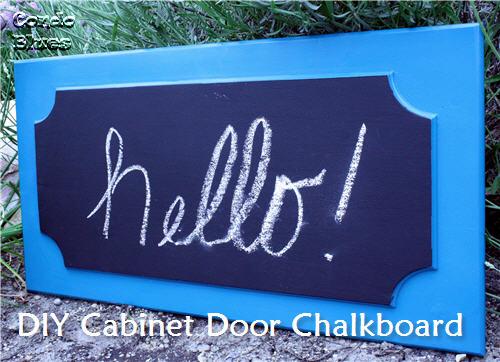 DIY Cabinet Door Chalkboard