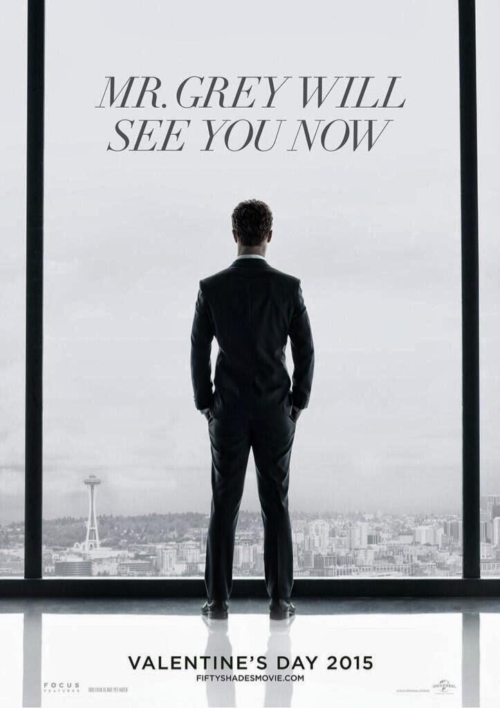 """Первый официальный постер к фильму """"50 оттенков серого"""""""