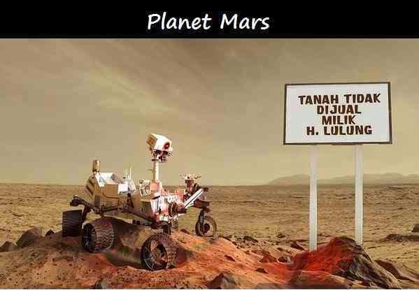 meme Tanah Planet Mars Milik haji lulung