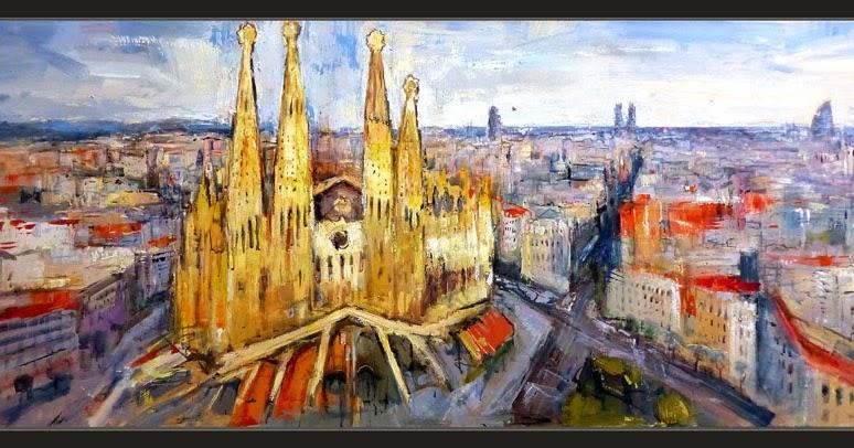 Ernest descals artista pintor barcelona pintura paisajes cuadros panoramicas catalunya sagrada - Pintor economico barcelona ...