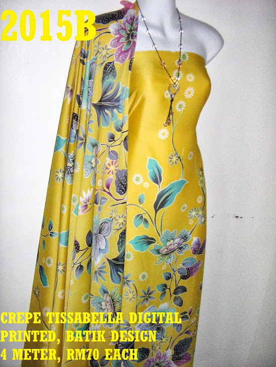 CTD 2015B: BATIK CREPE TISSABELLA DIGITAL PRINTED, EXCLUSIVE DESIGN, 4 METER
