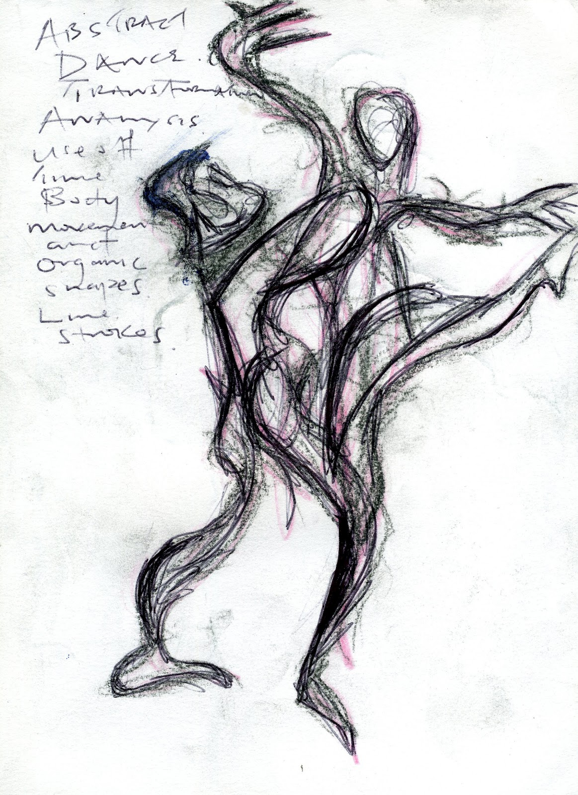 Abstract Life Drawing Abstract Dance Morph