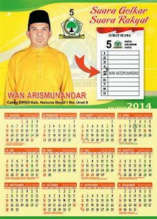 Pesanan Kalender 2014 Caleg (lanjutan)