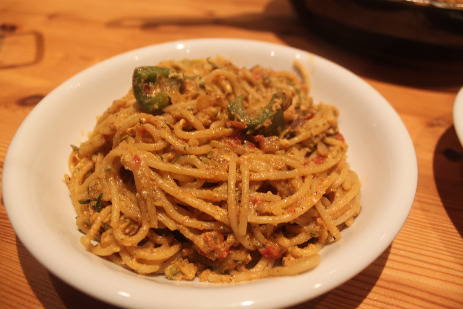 Tales of a Garlic and Onion Lover: Low-Fat Spaghetti Carbonara