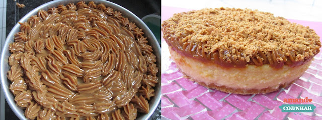 receita Cheesecake de doce de leite e paçoca
