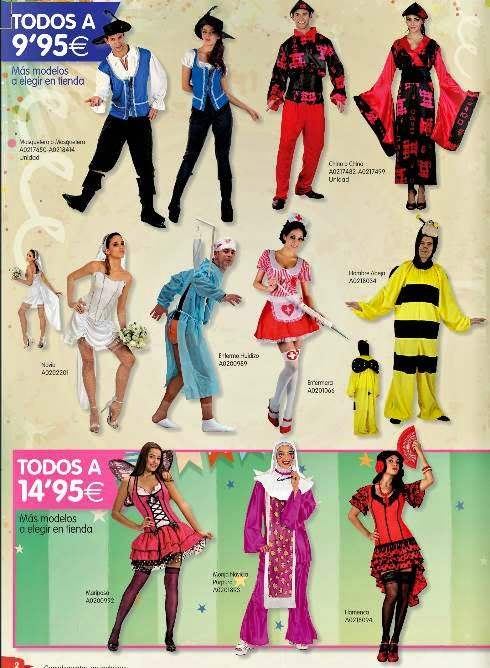 Disfraces Baratos 9.95€ Carnaval 2015