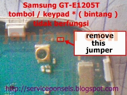 tomblo bintang tidak berfungsi samsung GT-E1205T, jamjami cell