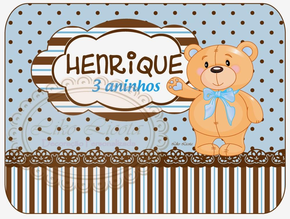 adesivos personalizados para marmitinha ursinho azul com poa marrom