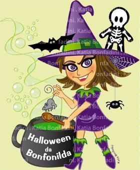 Criação de personagem vetorial para festa de Halloween