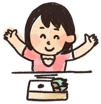 お弁当を食べる女の子のイラスト