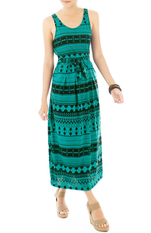 Lost Tribal Maxi Dress – Forest Green