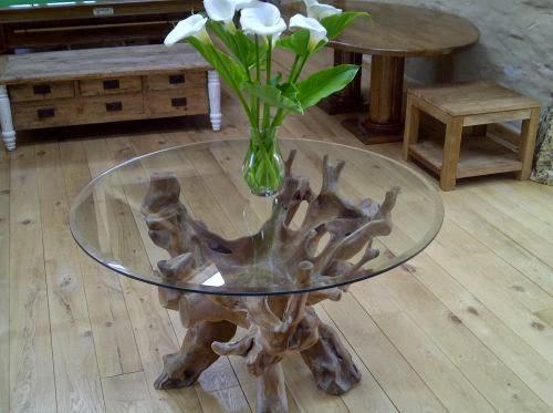 TEAK WOOD FURNITURE Teak Root Dining Table M - Teak root dining table base