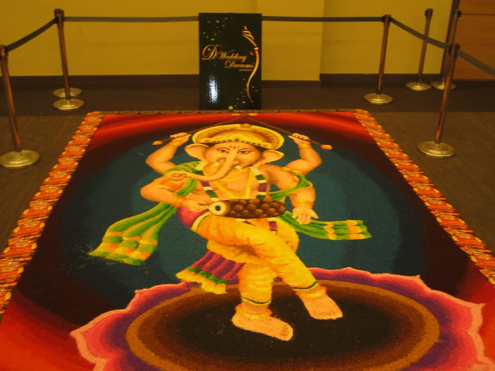 Indian Kolam Wedding Designs