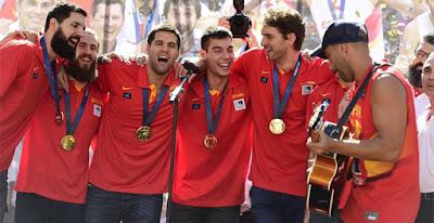 celebración España basket 2015 Madrid sport