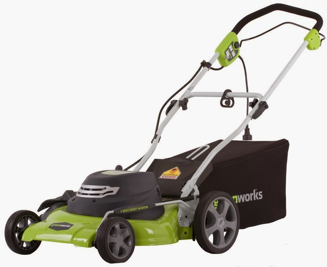 Reubens lawn care electric lawn mower 20 inch 12 amp by for Lawn mower cutting grass
