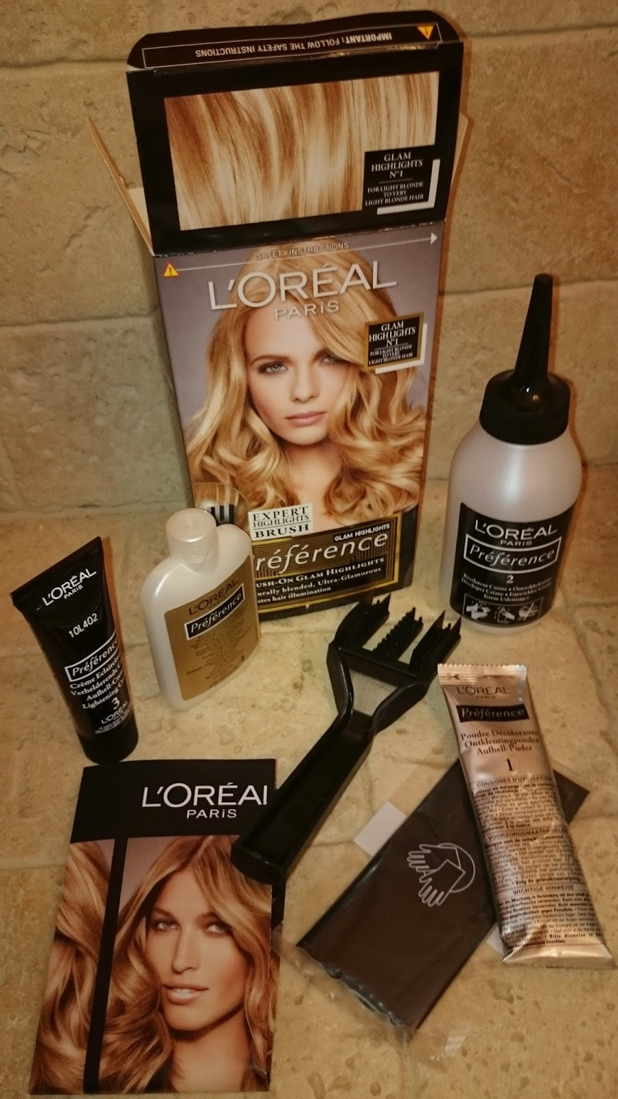 l'oreal preference glam highlights kit hair dye home DIY