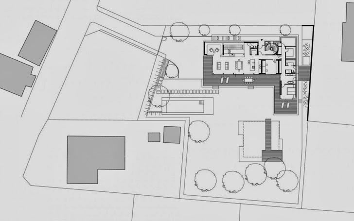 Floor plan of Modern Haus SK in Austria