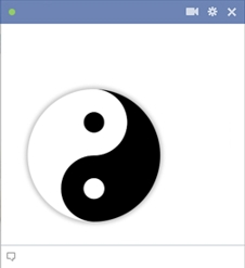 Yin-Yang Symbol Facebook Emoticon