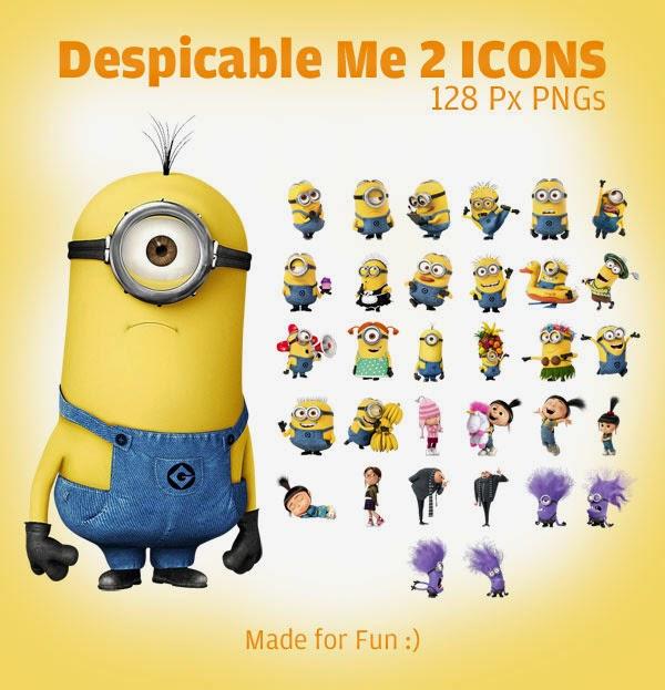 Despicable Me 2 Minion Icons