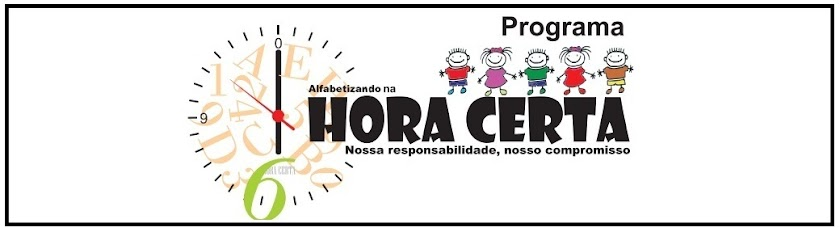 PROGRAMA ALFABETIZANDO NA HORA CERTA