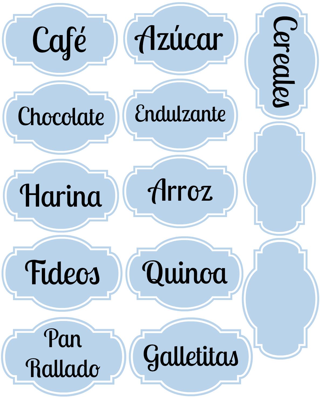 Imprimibles para organizar la cocina lote 93 - Imagenes de cocinas para imprimir ...